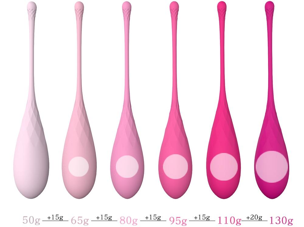 Набор из 6 каплевидных вагинальных шариков S-Hande