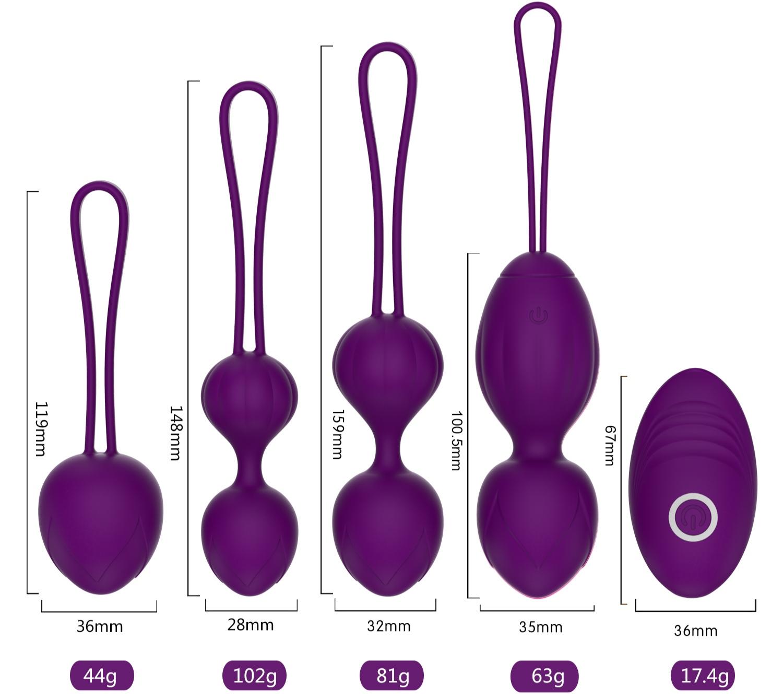 Набор шариков Кегеля с вибрацией Y-Love «Wireless Vaginal Eggs»